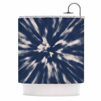 "Nika Martinez ""Indigo Tie Dye"" Blue Urban Shower Curtain"