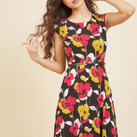 Conference Connoisseur Floral Dress | Mod Retro Vintage Dresses | ModCloth.com