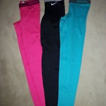 Nike Pro Core Combat Compression Tights Leggings Pants (1-Pair) Yoga Dri-Fit