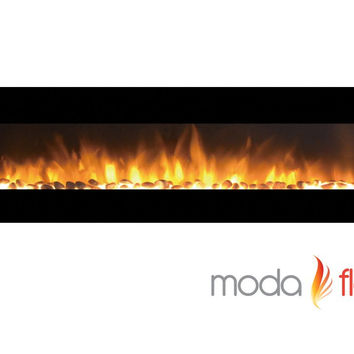 95 Inch Grand Pebble Wall Mounted Electric Fireplace