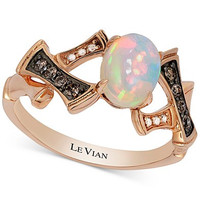 Le Vian Chocolatier® Opal (2/3 ct. t.w.) and Diamond Accent Ring in 14k Rose Gold