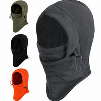 6 in 1 Thermal Fleece Balaclava Hood Swat Ski Mask Bike Skullies &amp Beanies Winter Wind Stopper Face Hats = 1946406724