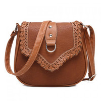 Stylish Weaving and Hollow Out Design Women's Crossbody Bag