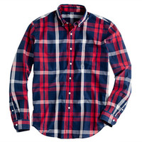Secret Wash lightweight shirt in Truro plaid