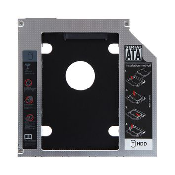 12.7mm SATA to SATA Hard Disk Drive HDD SSD Optical Bay Caddy Tray Adapter for Lenovo G700 G710 Replace UJ8D1 UJ8E1 DVD ODD