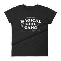 """Magical Girl Gang: Offical Member"" Dark Women's short sleeve t-shirt (MORE COLORS)"