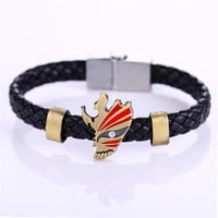 MOSU Hot Animation Alloy Bracelets BLEACH Weave leather bracelet & Bangle cosplay jewelry