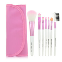 Professional 7 pcs Makeup Brush Set (Pink)