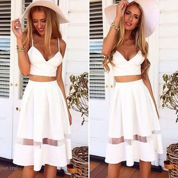 CUTE TWO PIECE SHOW BODY HOT DRESS