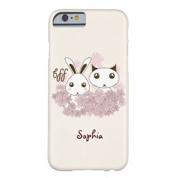 BFF - Best Friends Forever Cute Animal Kids Ivory Barely There iPhone 6 Case