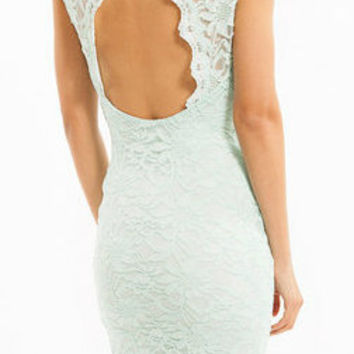 Mint Lace Fairytale Dress