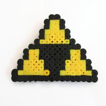 Triforce brooch badge , Legend of Zelda Triforce pin , hama / perler bead Zelda gift , uk seller