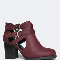 Sammi Cut Out Buckle Ankle Bootie