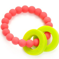Chewbeads Mulberry Teether - Punchy Pink