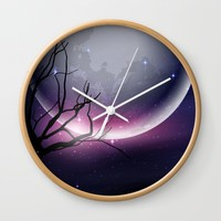 Face of the Moon Wall Clock by Texnotropio
