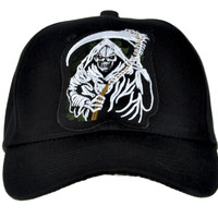 Grim Reaper Death Hat Baseball Cap Metal Clothing