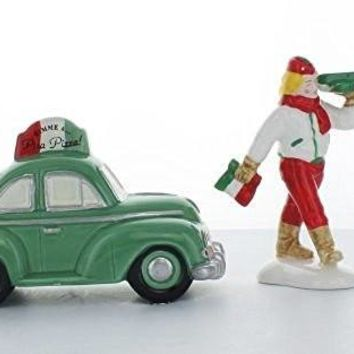"Department 56 Snow Village ""Pizza Delivery"" (Set of 2)"
