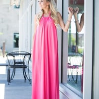 Plain Jane Halter Maxi Pink CLEARANCE