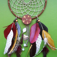 Dream Catcher - Tribal - Modern - Brown, Red, Yellow