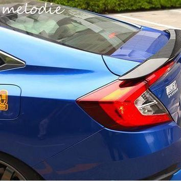 PEAPS2 Different colors painted ABS Car Rear Trunk Spoiler Wing For HONDA Civic 10 2016 2017, without stop light
