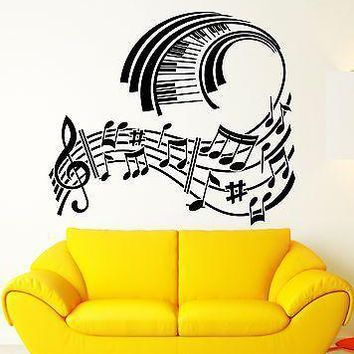 Wall Sticker Vinyl Decal Piano Sheet Music Modern Style Room Decor Unique Gift (ig1271)