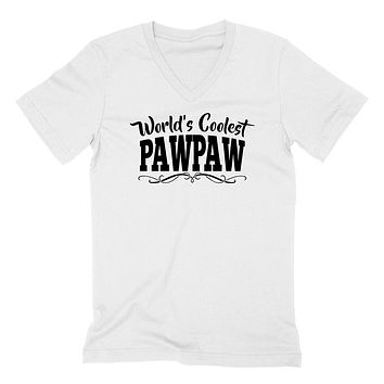 World's coolest pawpaw Father's day birthday gift ideas for new grandpa proud grandfather gifts for him  V Neck T Shirt