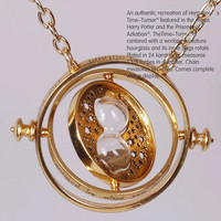 Harry Potter TIME TURNER NECKLACE Hermione Granger 18k Yellow  plated