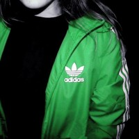 Adidas Women Men Sport Cardigan Coat Casual Jacket Windbreaker Sweatshirt-5