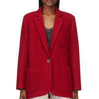 Isabel Marant Red Wool Jady Jacket