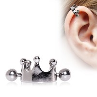316L Surgical Steel Crown Cartilage Ear Cuff