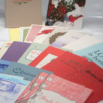 Vintage Holiday Greetings Cards unused with Envelopes,Vintage Cards