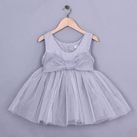 "The ""Aria"" Sweet Gray Bow Tutu Dress"