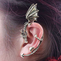 Punk Style Flying Dragon Ear Cuff One Piece