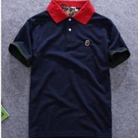 qiyif Men's Japan Ape Bape Logo Casual Polo