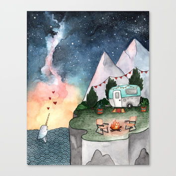 Night Camper Canvas Print by bweeber