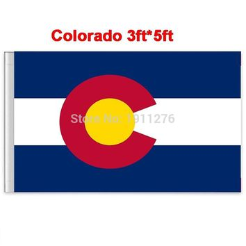 New fashion 90*150 cm Colorado flag  United State American Banner Office/Activity/parade/Festival/Home Decoration