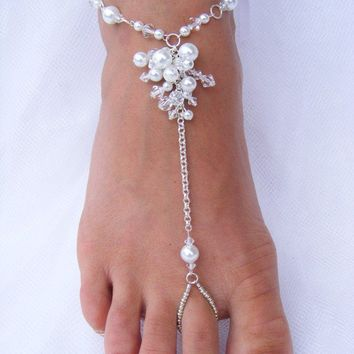 JESSICA Barefoot Sandals by PassionflowerJewelry