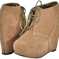 Breckelles Jenny-13 Taupe Women Ankle Boots:Amazon:Shoes