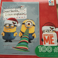 Despicable Me Minion Dear Santa Holiday 100 pcs Jigsaw Puzzle Ceaco New with Box