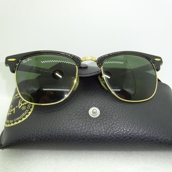 Vintage Ray Ban Sunglasses 51- 21 Clubmaster Black Frame