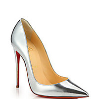 Christian Louboutin - So Kate Metallic Leather Pumps - Saks Fifth Avenue Mobile
