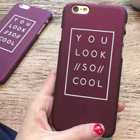 YOU SO CCOL iPhone 5s 6 6s Plus Case Case Cover Gift 175