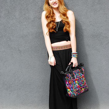 Tribal Embroidered Maxi