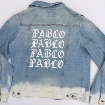 Pablo jean jacket pablo distressed denim coat