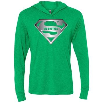 Super Big Brother T-Shirt, Male Sibling Son Tee Shirt-01 NL6021 Next Level Unisex Triblend LS Hooded T-Shirt