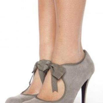 Velvet Bow Heel - Gray | NASTY GAL | Jeffrey Campbell shoes, Evil Twin, MinkPink, BB Dakota, vintage dresses   more!