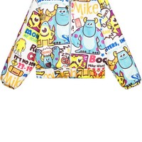 Cartoon Print Coat