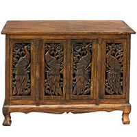 Buffet Sideboard Cabinet-All Wood Buffet-Hand Crafted Buffet Storage Table