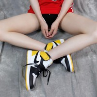 [Free Shipping ]Nike Air Jordan 1 Retro High OG 555088-109 ¡°Yellow Ochre¡± Basketabll Sneaker