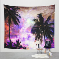 Palm Trees wall tapestry/California wall tapestry/Space wall tapestry/Purple wall tapestry/Pink wall tapestry/Nature wall tapestry/L.A decor